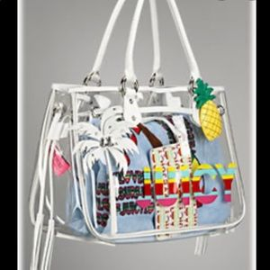 Juicy Couture clear tote bag